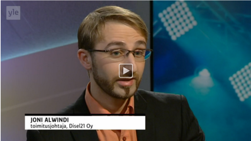 EdVisto at Yle Morning TV during SLUSH
